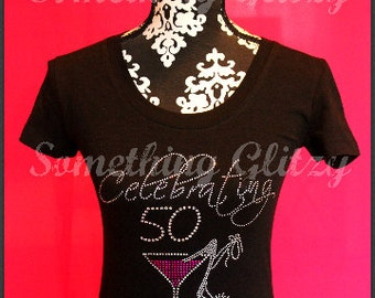 50th birthday shirt, Fabulous at 50 Bling Tank, celebrating 50 Shirt, 50th Birthday bling shirt, 50th Birthday, Fabulous at 50, 50 bling
