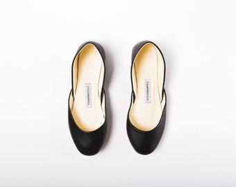 The Classic Ballet Flats | Women's Leather Shoes | Ballet Slippers | Casual Wear Ballet Shoes in Black