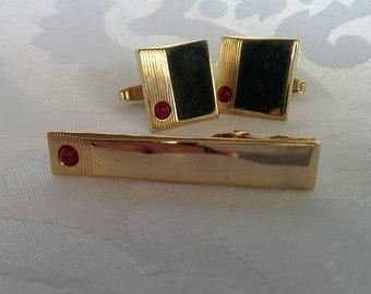 Foster Cuff Link Tie Bar Set, Foster Cuff Links, Suit and Tie Accessories