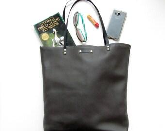 Dark Brown leather tote bag