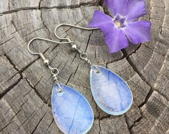 Opalite Teardrops . Sea Opal . Earrings