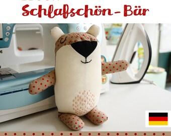 GERMAN bear plushie tutorial, DIY, instructions, sewing pattern