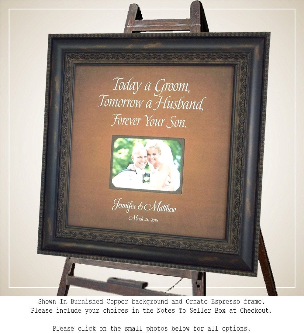 Wedding Gifts For Grooms Parents: TODAY A GROOM Wedding Gifts For Parents By PhotoFrameOriginals