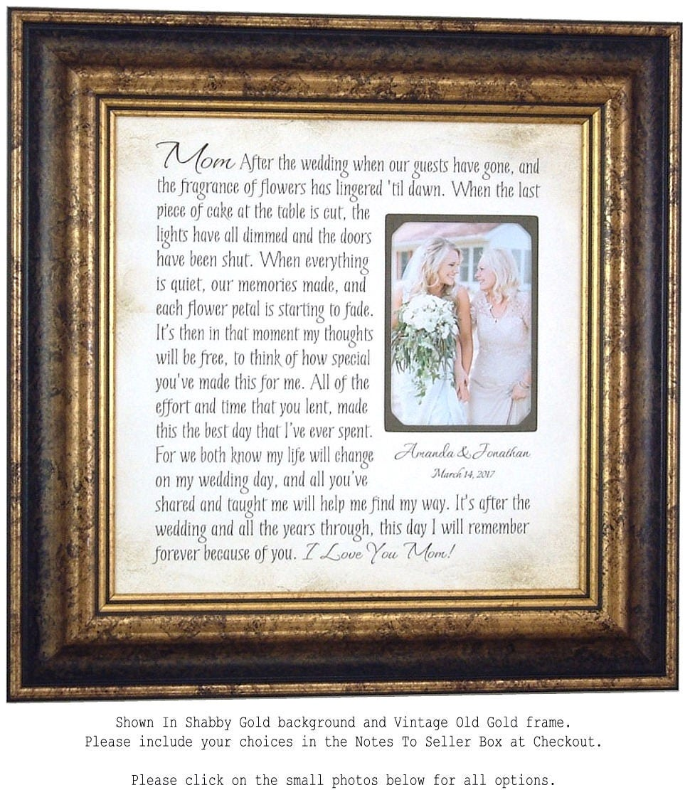 Mother Of The Bride Gift Wedding Photo Frame Mom Dad Wedding