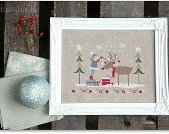 NEW Dear Rudolph Christmas cross stitch patterns by Madame Chantilly at thecottageneedle.com Winter December 25 Santa