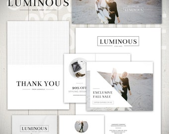 Marketing Set Templates: Luminous - Photography Business Marketing & Forms Bundle