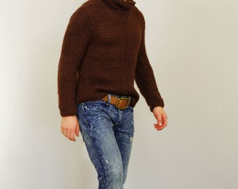 Knitted Brown Men's Sweater