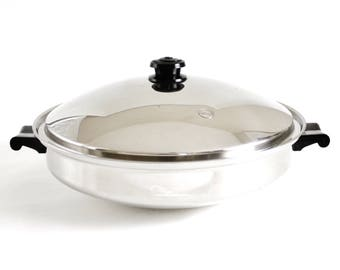 "Saladmaster Wok Large 15"" 7 Qt TP304S Five Star Stainless Steel"