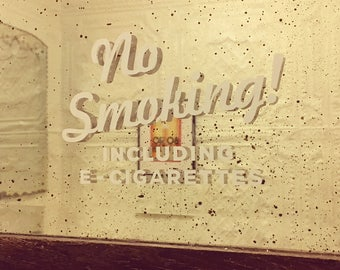 No Smoking Vinyl Decal - No Smoking Sign - No Smoking - Restaurant Sign - Sticker - Smoking Sign
