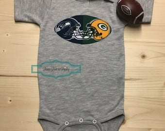 House Divided Baby ~ 50 Teams Available, Baby Football Outfit, Baby Shower Gift, New Baby Gift, Football Baby Outfit, Going Home Outfit