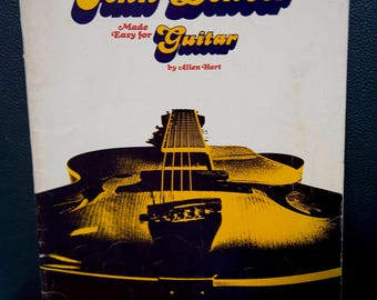 Vintage The Music of John Denver Made for Guitar by Allen Hart, 1975.