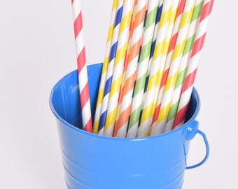 Building Block Party Straws, Set of 24, Building Block Party, Paper Straws, Block Birthday Party, Block Party Supplies