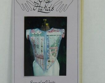 Sampler Vest Pattern, Of My Hands Design, Ladies Size 6 thru 20 Pattern, Womens' Clothing Pattern, Quilted Vest, Open Front Embellished Vest