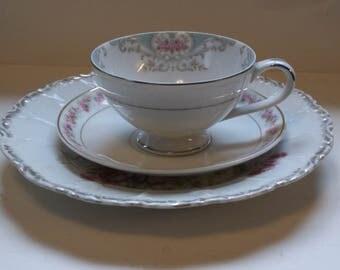 Tea Party Vintage China - Pink & Blue Mismatched Shabby Chic Bridal Shower - Alice in Wonderland