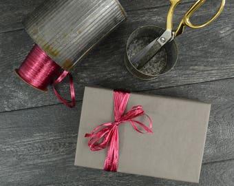 Slate Gray Kraft Wrapping Paper, 2 Feet x 10 Feet