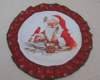 Vintage Christmas Santa Wall Decor, Giordano Art Work, Vintage Wall Art, Frameable Christmas Decor, Retro Santa Claus