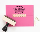 Personalized Return Address Stamp Moving New Home Rubber Stamp Custom Bridesmaid Gift Heart Stamp Girls Camp Address Label Housewarming Gift