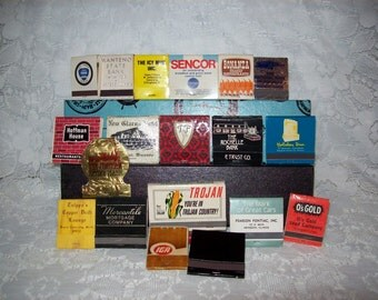 Vintage Assorted Matchbooks Advertising Collectibles All for 8 USD