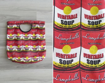 Vintage 80's CAMPBELL'S Vegetable Can Soup Novelty Canvas Tote