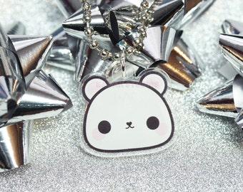 Kawaii Polar Bear Acrylic Planner Charm- Kikki K, Filofax, Keychain
