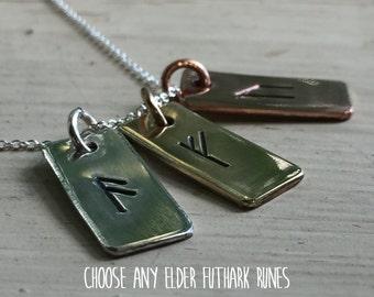 Rune Talisman - Any Rune - Women Viking - Norse Talisman - Viking Talisman - Rune Jewelry - Norse Amulet - Viking Symbol - Elder Futhark