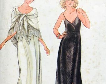 Butterick Vintage John Kloss 6369 Dress Gown and Shawl