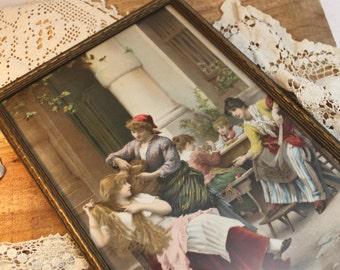 A Beautiful Picture of Victorian Ladies, Art Print,Elegant Ladies,Victorian Child,