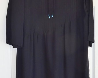 Vintage Dress Black Belted Dress Rona New York Made in the USA