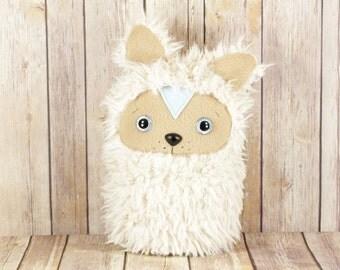 Cute Plush Dog Stuffed Animal, Kawaii Dog Plushie, Minky Fur Dog Soft Toy, Handmade Dog Plush Toy, Light Brown Dog Plushie, Pomeranian