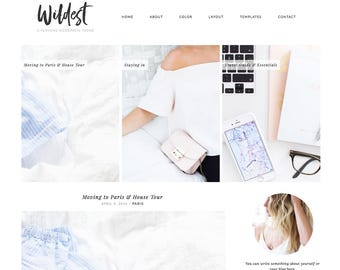 Wordpress Theme Responsive Blog Template Blog Design - Wildest - minimalist, chic