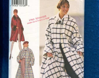Style 2483 Super Flared Coats with Large Collar & Rolled Cuffs Size 8 to 18 UNCUT
