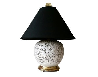 Blanc de Chine Table Lamp, Dragon Motif