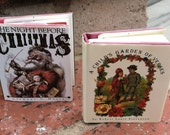 """Vintage 80's """"The Night Before Christmas"""" &  """"A Child's Garden of Verses""""  2 Small Hard Cover Books"""