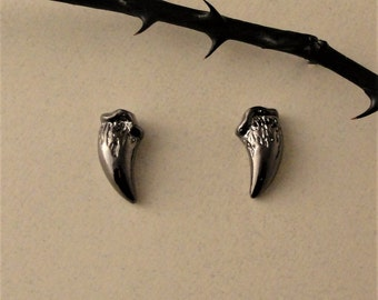 Fang Studs, Fang Earrings, Stud Earrings, Black Fang Studs, Twilight Jewelry, Vampire Fangs, Gothic Jewelry, Gothic Earrings, Dark Souls,