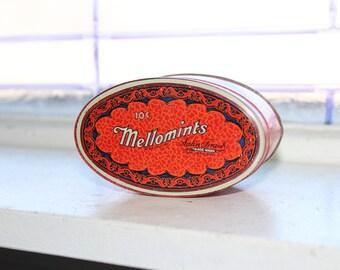 Vintage Mellomints Tin 1930s Candy Tin