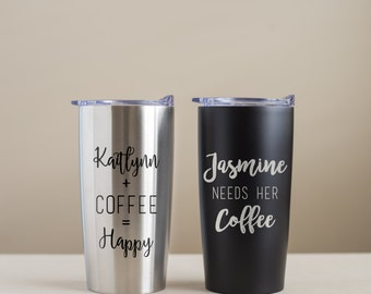 Custom Engraved Stainless Steel Coffee Mug: Personalized Coffee Mug, Engraved Coffee Tumbler, Personalized Coffee Tumbler, Custom Tumbler