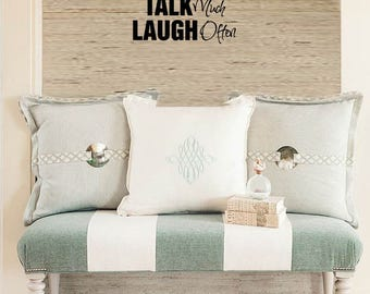 FAMILY Wall Quotes Decal - SiT long TaLK much LAUGH often - Vinyl Wall Art - Wall sayings