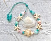 KIDS jewelry, little mermaid bracelets, beachy jewelry, friendship bracelet, kids gift, sea turtle bracelet, child's bracelet