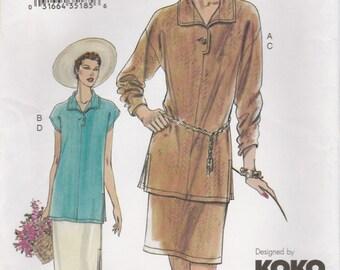 Tunic Top & Skirt Pattern Vogue 7612 Sizes 14 16 18 Uncut