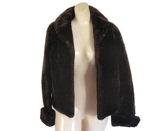 Vintage Brown Fur Coat Mouton Fur Coat Sheepskin Coat Lamb Fur Coat Women Winter Coat Ladies Winter Coat Sheep Skin Jacket Warm Winter Coat