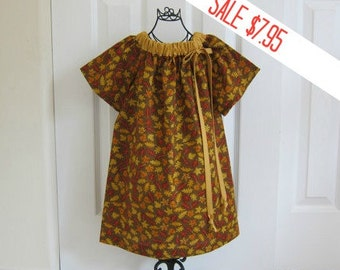 Peasant Dress  -   Sale  -  FALL DRESS -   Holiday Dress  -  Toddler  Girls   -   12 Month Dress -  Ready to ship  By Emma Jane Company