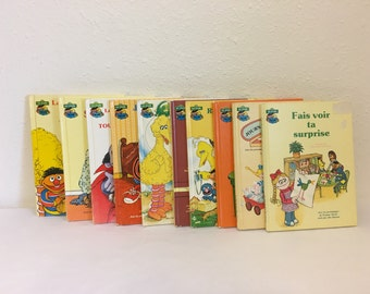 Vintage Book, Sesame Street, Le Journal de la Rue Sesame, French Kids Book, French Sesame Street Library