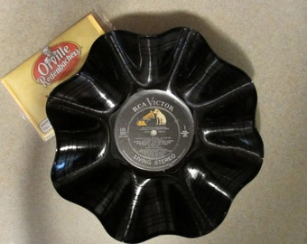 LP Vinyl Popcorn bowl