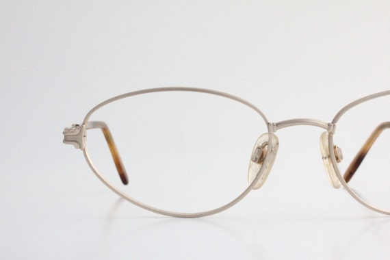 Gold Wire Glasses Frames : Vintage 80s Italian Gold Wire Eyeglasses Frames