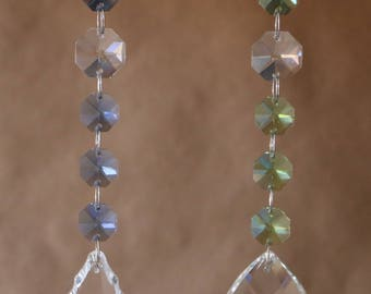 Set of 2 Crystal Prism Window Suncather