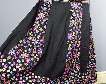Unique Patchwork maxi skirt. UK seller. Ships worldwide