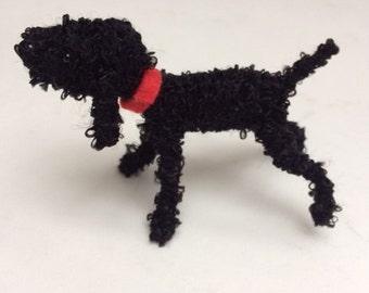 Black poodle decoration, little dog