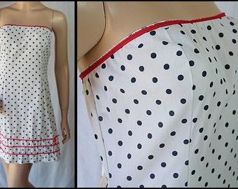 Polka Dot Slip Dress, Gaymode, Red White Blue, Pin Up Lingerie