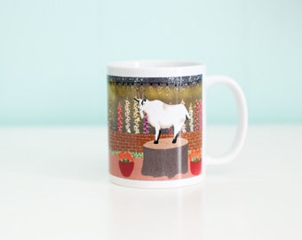 Goat Coffee Mug / Under the City Lights / 11oz Coffee Mug