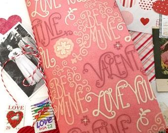 40% OFF this Valentine's Day, Junk Journal Insert, Travelers Notebook Art Journal, Scrap Journal, Glue Book. Collage Journal